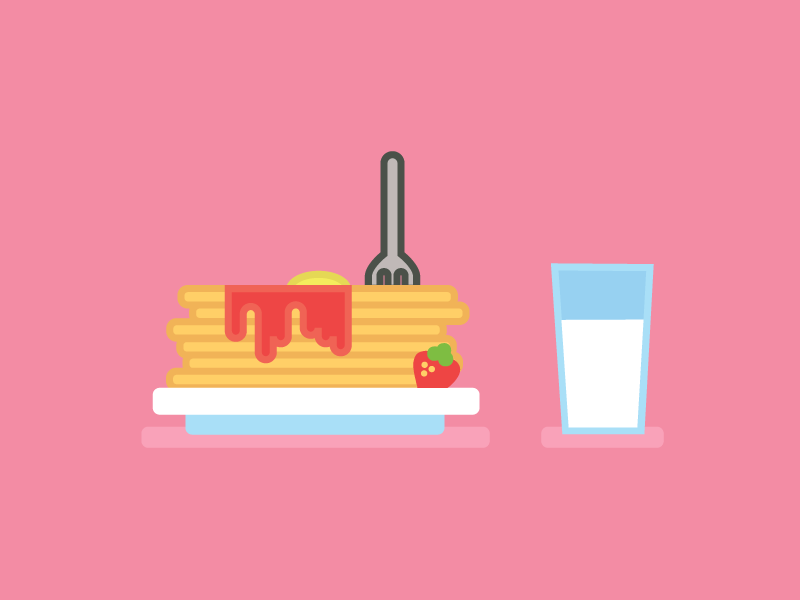 It's Pancake Day design. colours illustration honey lemon maple syrup canada pancakes shove tuesday