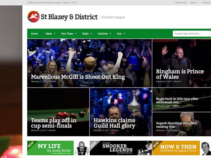 St Blazey Snooker Website