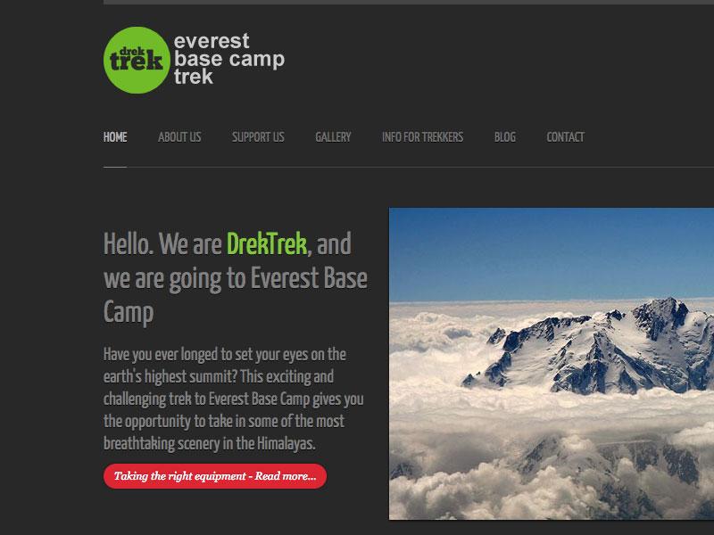 Drek Trek - Everest Base Camp Trek walking trekking mountains everest design website