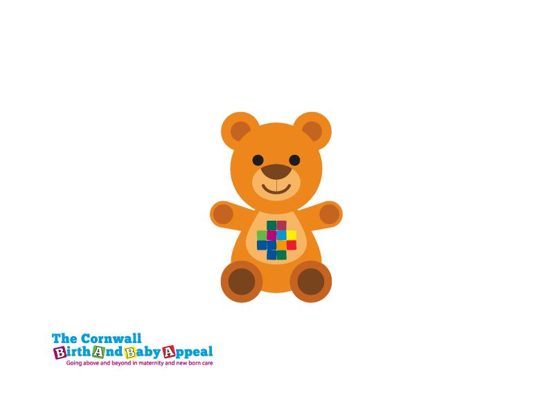 Baba Bear logo brand illustration design appeal baby birth cornwall