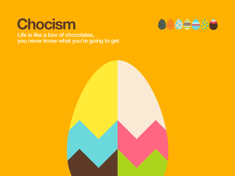 Chocism chocolate fun illustration design colour egg easter