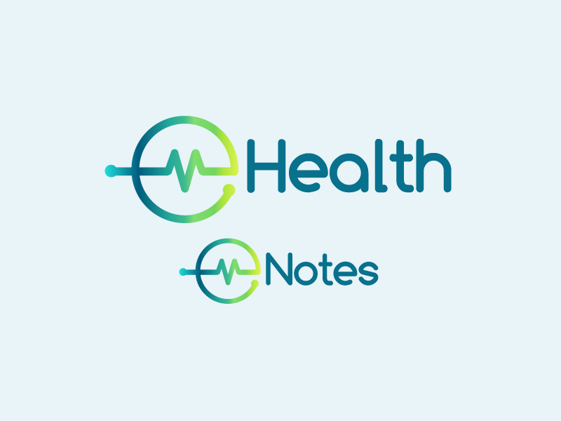 e-health and e-notes Identity colour nhs logo identity design illustrator