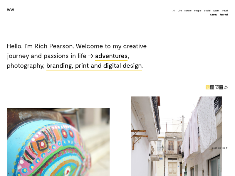 Rich Pearson Design Website 2 cols