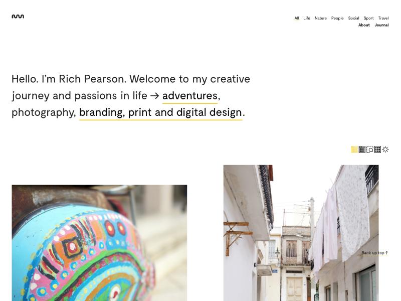Rich Pearson Design Website 2 cols