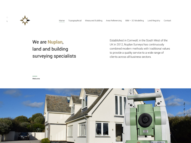 New Nuplan Surveys Website cornwall design building land surveys identity website