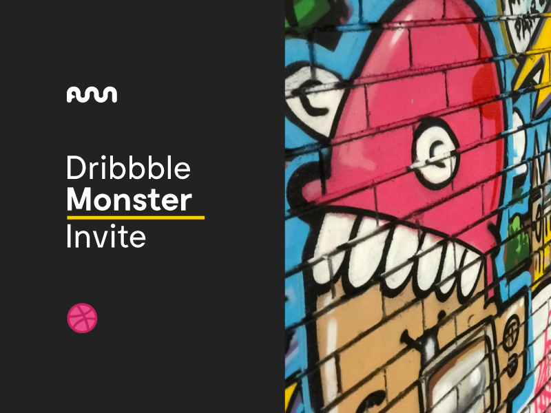 Dribbble Monster Invite