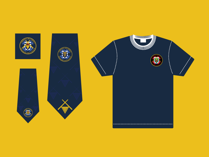 Ties & Shirts badge club shirts ties logo branding design