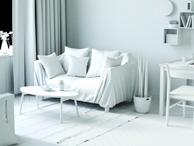 Living Room Apartment room modeling art architecture color modern texture light design 3d