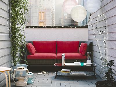 Roof Terrace room texture modern modeling light design color art architecture 3d