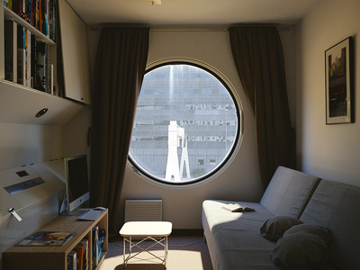 Japanese Apartment room texture modern modeling light design color art architecture 3d