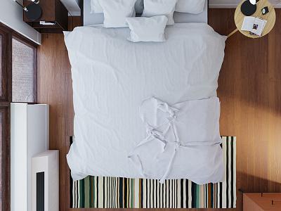 Simple Bedroom texture room modern modeling light design color art architecture 3d