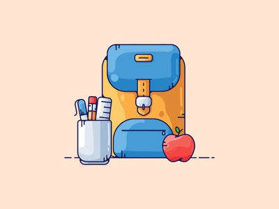 Shool Supplies Illustration