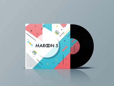 Weekly Art Challenge - Album Art for 'V' by Maroon 5