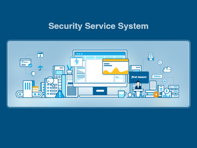 Security service system illustrator icon safety