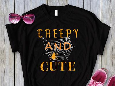 Creepy and Cute T-Shirt Design logo vector ux ui design creative illustration business creative logos branding halloween tesacher teacher halloween horror t-shirt branding halloween halloween fashion fashion halloween t-shirt halloween halloween t-shirt fashion t-shirt t-shirt