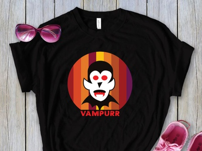 Vampurr T-Shirt Design corporate t-shirt branding logo motion graphics 3d animation ui graphic design t-shirt fashion fashion fashion t-shirt halloween t-shirt halloween t-shirt vampur