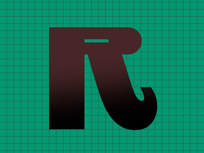 Letter R thin expanded bold transition grid animation lettering variable variable font 36daysoftype07 36daysoftype type typography letter r
