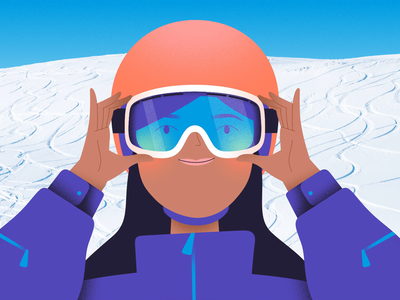 Snowboarder slope sport vacation winter mixed-media photo mountain ski resort helmet snow alps character girl woman goggles ski goggles snowboarder snowboard skier ski