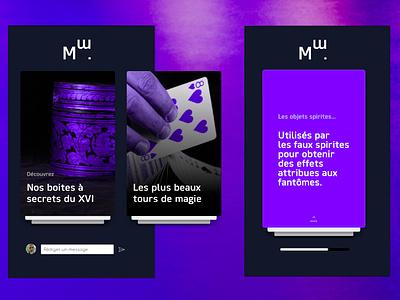 Musée de la Magie graphics ux design information magic museum interaction design direction artistique interaction ux uiux ui