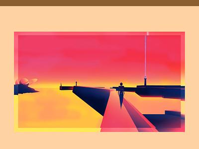 Mars 2 - Tourisme tourism space design illustration graphics direction artistique ui planet mars