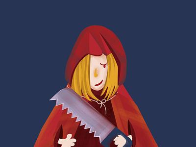 Le petit chaperon rouge - Little red riding hood branding logo typography vector print design print illustration design graphics direction artistique