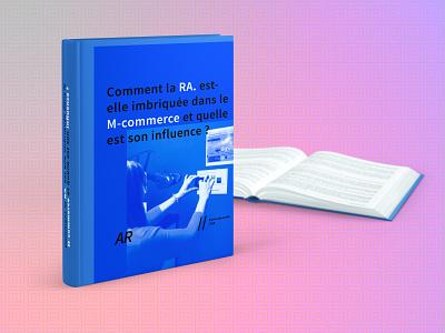 Livre en réalité augmentée - AR book branding vector typography interaction design interaction book logo design graphics direction artistique