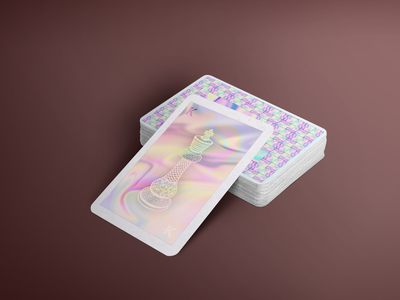 After - Holographic Card holographic foil holographic typography logo design direction artistique graphics