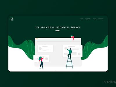 Landing page : CreadorDesigns