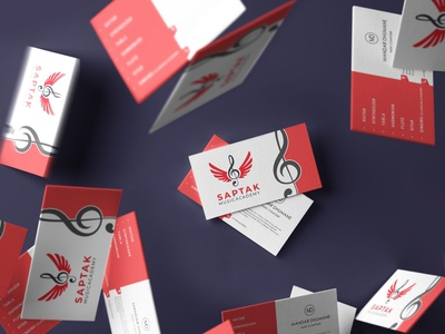Business Card : Saptak Music  academy