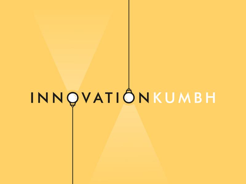 Logo Design : INNOVATIONKUMBH graphic design digital graphics graphics symbol workdmark monogram lightbulbs minimal minimaldesign logodesign logos
