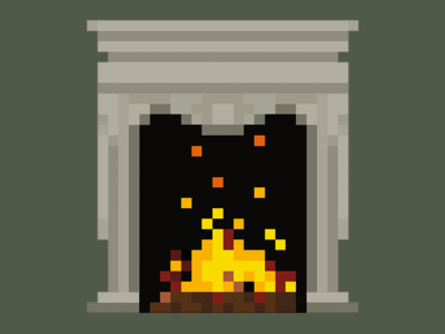 Spooky Fireplace
