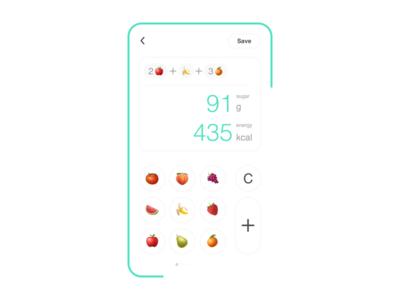 Calorie and Sugar Calculator #DailyUI #004