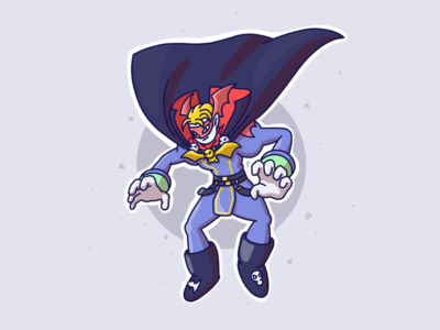 Vampire guy flatart flatdesign procreate drawing logo graphic design 2ddesign animation illustration