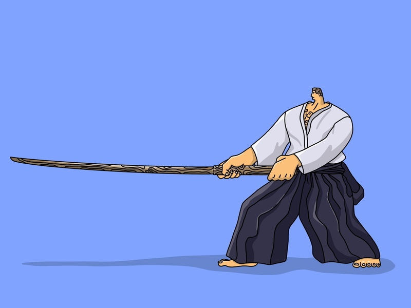 Aikido Master character design icon design icons icon art longfingers graphic character branding illustration illustrator logo graphic design design