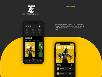 The Fittest League app ux ui