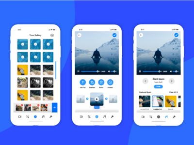 Video Editing App - UI/UX Concept
