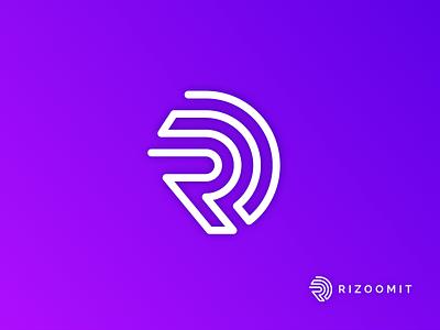 Logo Design for Rizoomit consultancy logo b2b logo secure logo authenticity logo rhizome logo fingerprint logo rotation logo branding design minimal logo logo design rizommit logo r logo