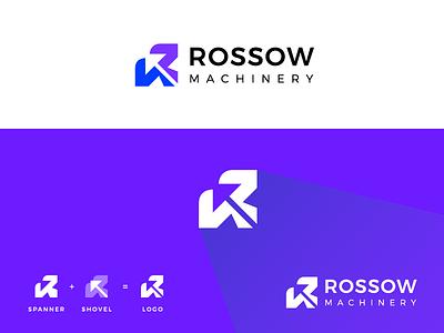 Logo Design for Rossow Machinery best logo simple logo monogram modern logo construction logo shovel logo spanner logo machinery logo rossow logo machine logo