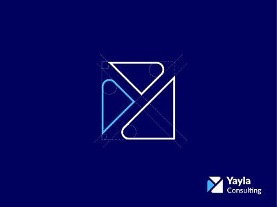 Logo Design for Yayla Consulting yayla consulting logo yayla logo triangle minimal logo business logo y logo best logo consulting logo