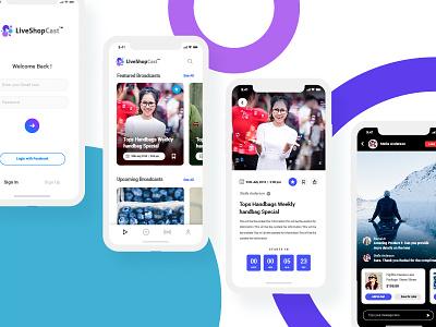 Live Shopping App - UI/UX Concept video ui ecommerce app shopping app minimal design live design app design live ui live shopping app