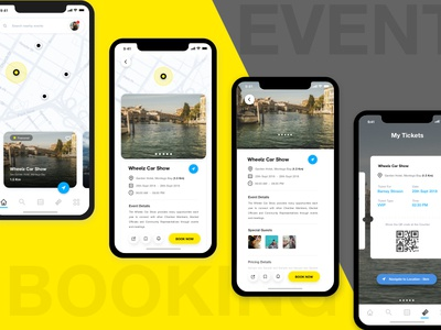 Event Booking App - UI/UX Concept event ui best ui modern ui concept modern ui event design booking design booking app design app design event app booking app event booking app