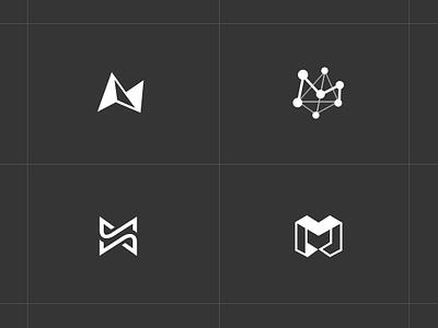 Branding Concept for a Blockchain Based P2P CDN Company logo design m branding peer2peer logo p2p logo best logo branding blockchain logo m logo