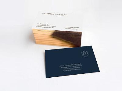 Meermila Jewelry Business Card premium gold luxury jewelry jewel brand identitydesign businesscard typography design identity branding logo