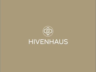 hivenhaus logo design - brand identity mark logotypes logotipo logos brandidentity brand design brand honey bee logotype icon typography design flat identity type 2d vector branding logo