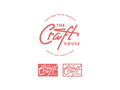 The Craft House brand identity lettering typography vector type logo identity icon clean classy chic branding 2d