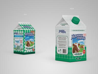 Redesign milk brand Molochnaya Strana (Milk Country) packaging labeldesign milk brand branding design milk design label packaging label design label brand design branding brand