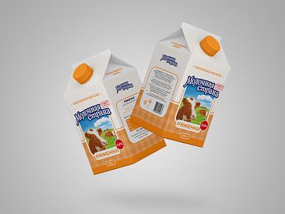 Redesign milk brand Molochnaya Strana (Milk Country) label packaging labeldesign packagedesign milk brand milk packaging pack package design label brand design branding brand