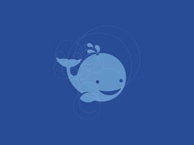 Logo construction of whale animal logo symbol logo construction logo logo grid grid logo character logo mascot logo whale logo whale mascotlogo logos logo