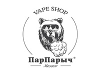Logo for vape shop from Moscow «ПарПарыч»