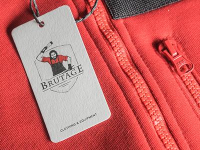 tag «Brutage» smith shield equipment clothing brutal blacksmith tag logo
